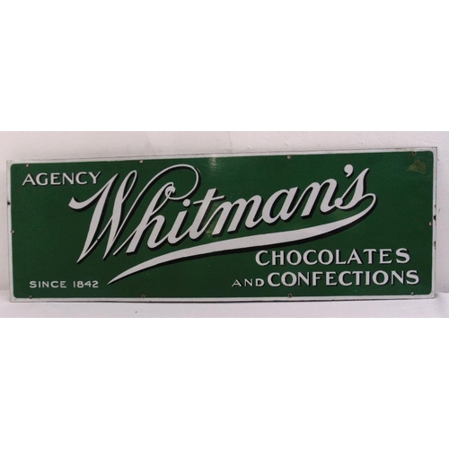266 - A rectangular polychromatic enamel sign for Whitmans Chocolate and Confection, 34.5 x 100.5cm...