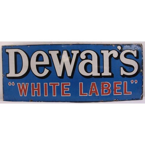 267 - A rectangular polychromatic enamel sign for Dewars White Label, 30 x 76cm...