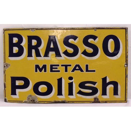 268 - A rectangular polychromatic enamel sign for Brasso Metal Polish, 30.5 x 51cm...