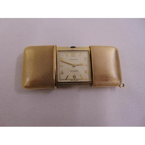 300 - Movado engine turned pocket watch, approx total weight 60.5g...