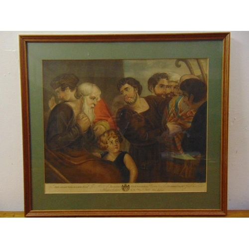56 - Joseph Bretheren framed and glazed polychromatic etchings titled Bloody Coat presented to Jacob thei...