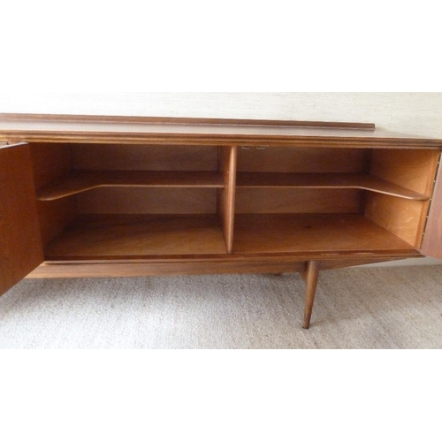 1 - Robert Heritage for Archie Shine Hamilton rectangular sideboard with four drawers and two cupboards,...