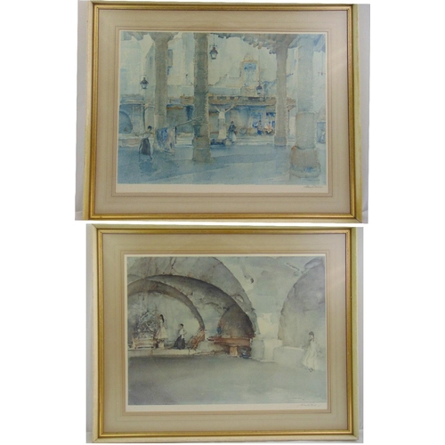 41 - Two framed and glazed Russell Flint polychromatic lithographs signed bottom right, gallery stamped b...