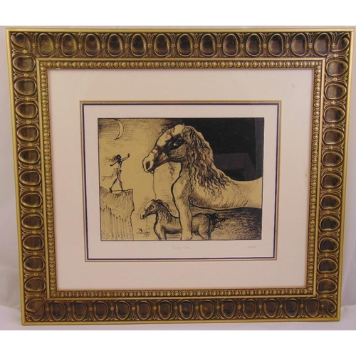 42 - Salvador Dali framed and glazed mono serigraph titled Sixty One, limited edition 276/2751, 30.5 x 40...