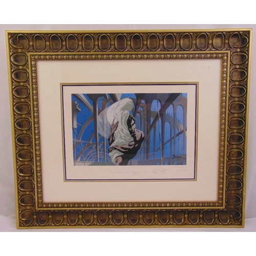 46 - Salvador Dali framed and glazed polychromatic serigraph titled Two Hundred and Eight Five, limited e...