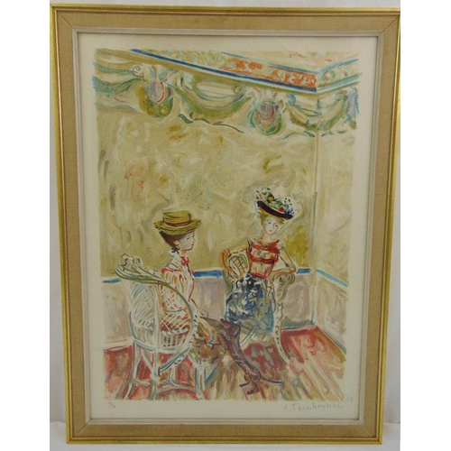 49 - Constantin Andreevitch Terechkovitch 1902-1978 framed and glazed limited edition polychromatic print...