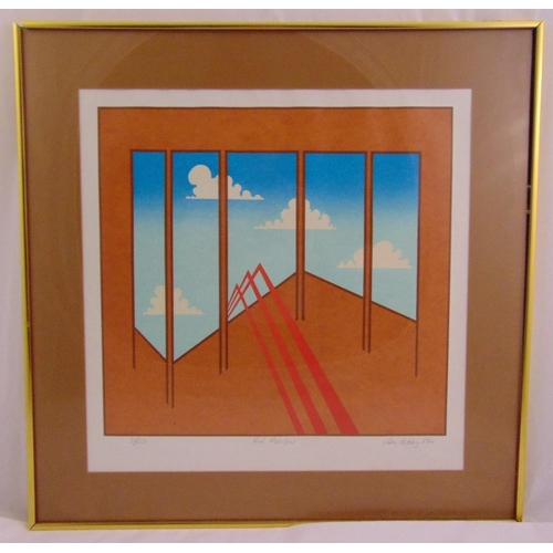 50 - Ian W. King framed and glazed polychromatic limited edition print titled Red Rainbow 36/250, signed ...