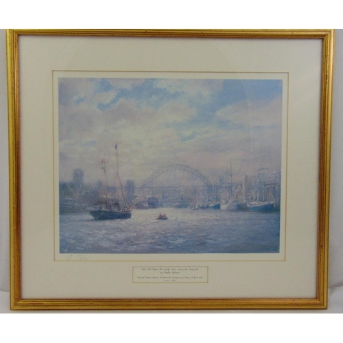 51 - W. Holmes framed and glazed limited edition lithographic print titled The Tall Ships Race July 1993 ...