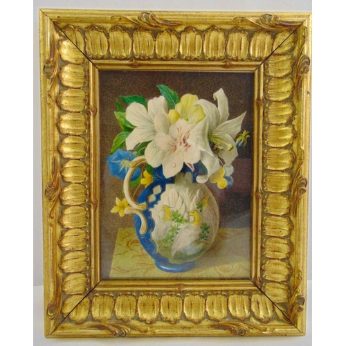 53 - Willem Cruikshank 1848-1922 framed and glazed watercolour still life of flowers in a vase, signed bo...