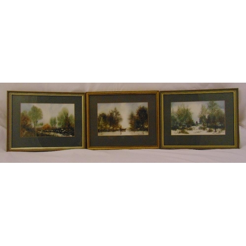 41 - Anthony Waller 1932 three framed and glazed watercolours of Scottish landscapes, signed to the botto...