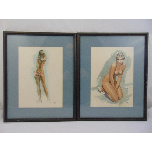 37 - A set of six framed and glazed vintage Aslay polychromatic glamour prints of ladies, Heffer Gallery ...