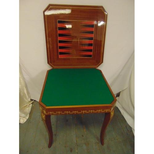 22 - An Italian Sorrento style inlaid square games compendium table circa 1970s, 74 x 76.5 x 76.5cm...