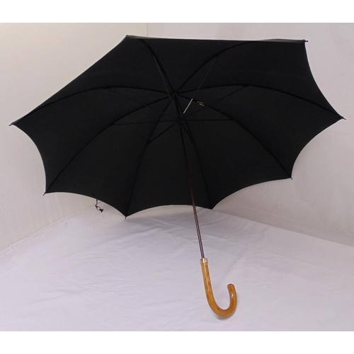 250 - Two umbrellas with rolled gold ferrules on the barrel...