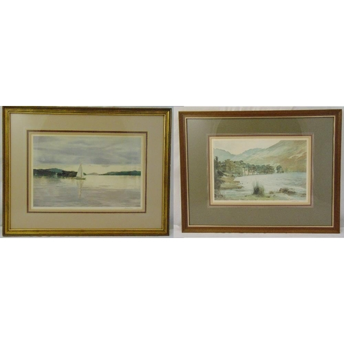 57 - Michael Revers two framed and glazed limited edition prints of lake scenes, to include COAs, 25 x 39...
