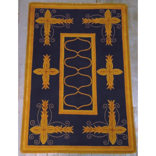 47 - V'Soske rectangular rug with repeating designs, retailed by Liberty, label to underside, 198 x 137...