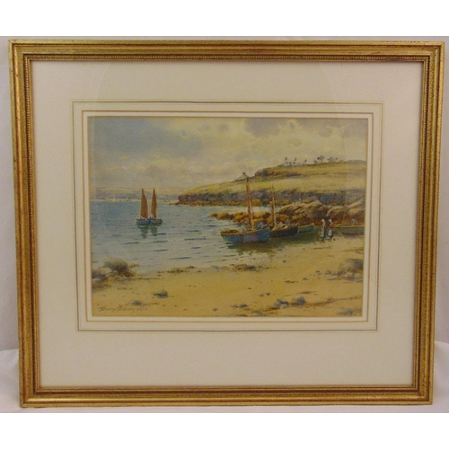 53 - Warren Williams ARCA framed and glazed watercolour titled Red Wharf Bay Anglesey, signed bottom left...