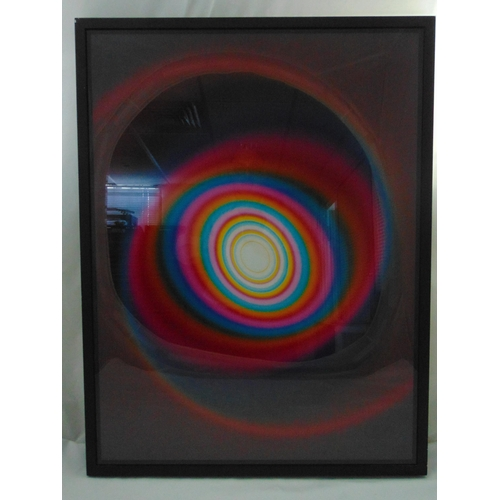 47 - Rob and Nick Carter framed and glazed Colour Changing Spiral cibachrome print. 80 x 60cm