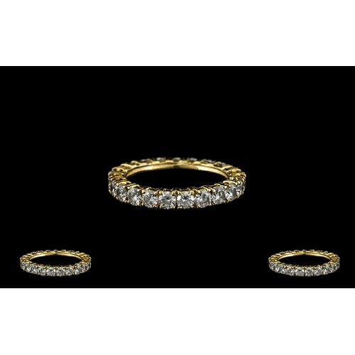 25A - Ladies 18ct Gold Diamond Set Full Eternity Ring, Set with over 2.00 cts of Est Commercial White Diam...