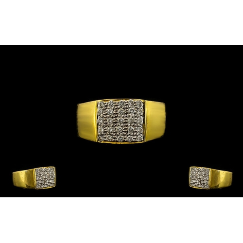 29A - 18ct Gold Diamond Set Cluster Ring - Wedding Band Style. The Diamonds of Superb Colour and Clarity. ...