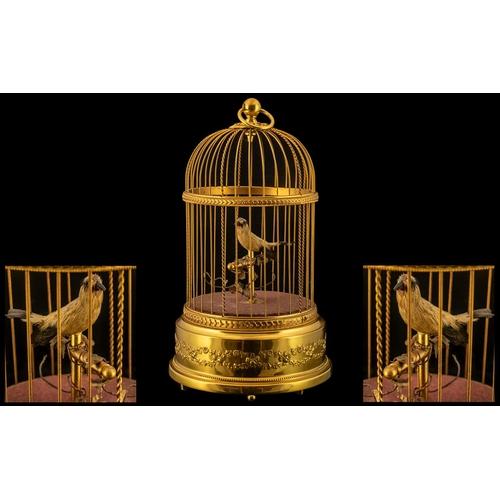 6 - Reuge - Swiss Made Superb Quality Musical Key-Wind Automaton Singing Bird Cage, Wonderful Tone. The ...