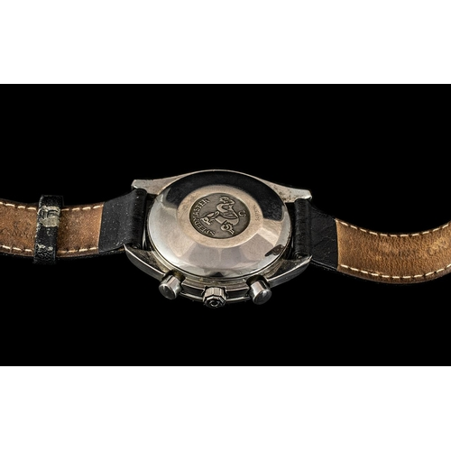 17A - Omega Speedmaster Panda Gents Iconic Automatic Chronograph Wrist Watch. Features Stainless Steel Cas...
