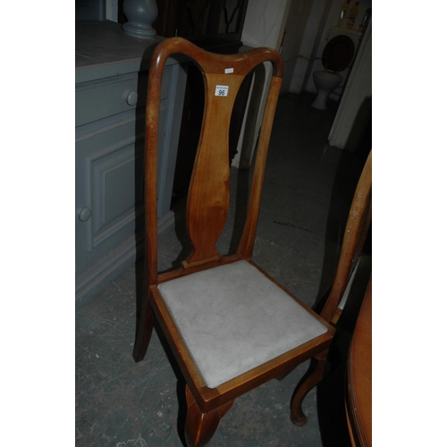 96 - Set of 4 dining chairs...
