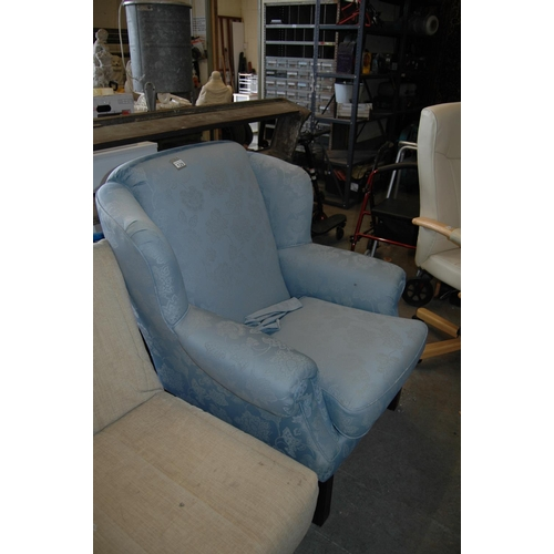 129 - Upholstered armchair...