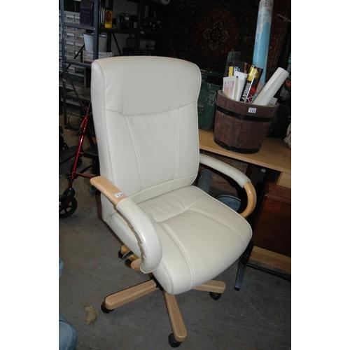 130 - Cream office chair...
