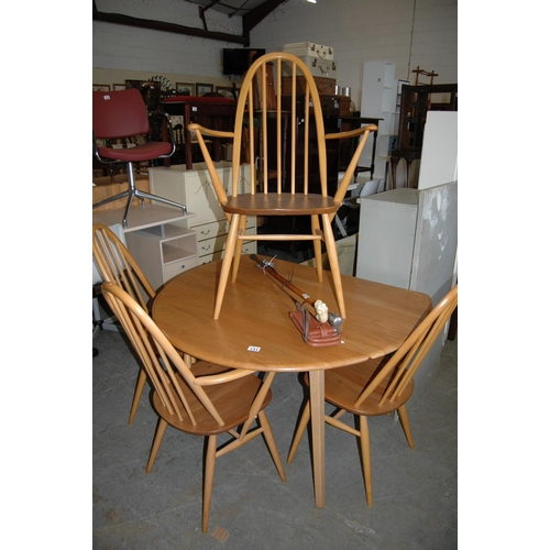 131 - Ercol table & 4 chairs...