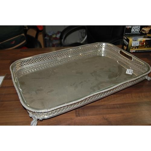 323 - Portuguese silver tray...