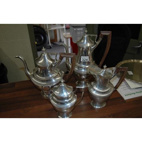 324 - 4 piece Portuguese silver coffee set
