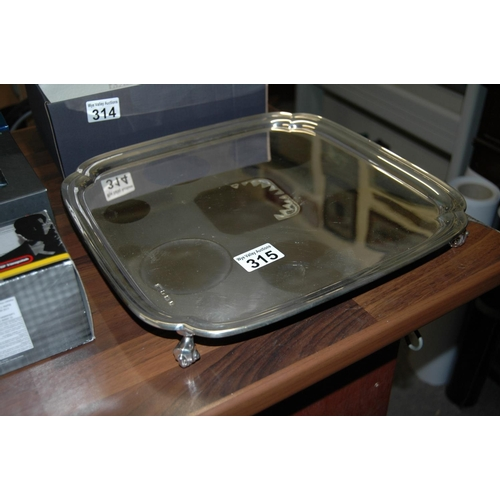 315 - Sterling silver tray, 1458g...