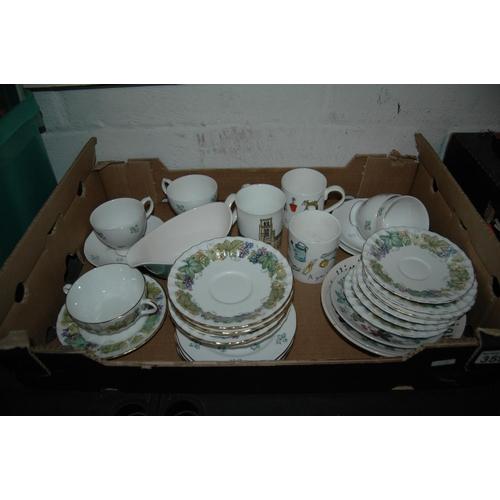 Box of misc china