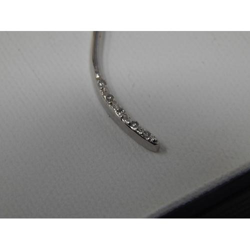 56 - 9ct white gold diamond pendant on 9ct white gold chain. Length 38cm...