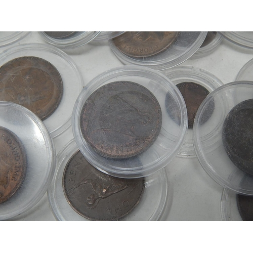 COINS:1937/19440/1944/1945/1947/1948/1949 pennies, 1893 farthing