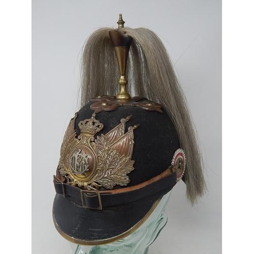 400 - German Imperial Cavalry Officers Helmet: Very Scarce.