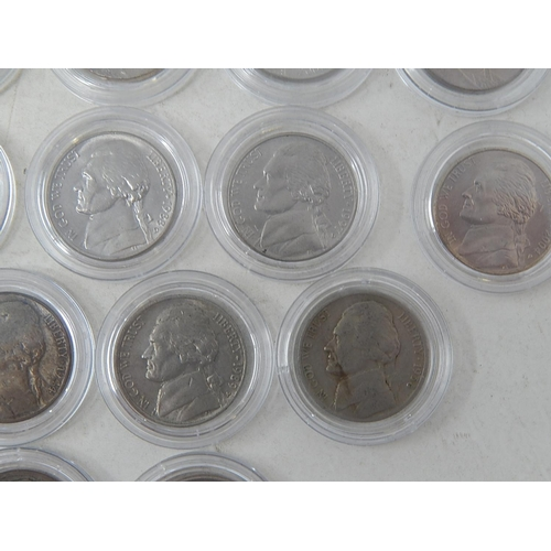 17 - USA Buffalo Five Cents (2); later Five Cents (24) all mainly Mint State; Kennedy Silver Half Dollar ...