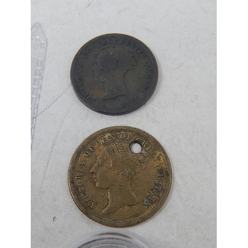 27 - Victoria Maundy Twopence 1838; Three halfpence 1843; Half Farthing 1843; Prince of Wales Model Half ...