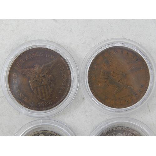 36 - Phillipines US Territorial issue 20 Centavos 1904, 1928; 5 Centavos 1903; 10 Centavos 1904; 1 Centav...