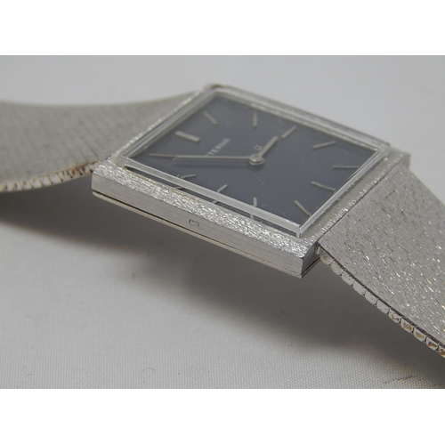 406 - 18ct White Gold Eterna Gentleman's Wristwatch: Gross weight 66.7g: Working when catalogued