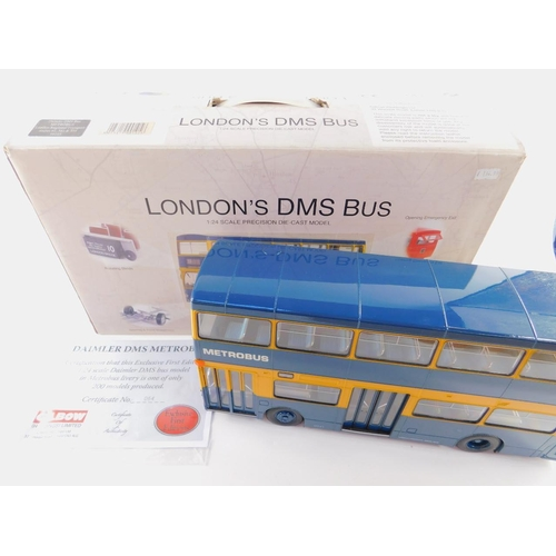 A Gilbow die cast model of a London DMS Bus, routes 61, 361