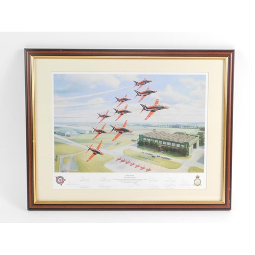 3013 - Robert Tomblin. Ruby Reds, The 2004 Red Arrows Celebrate Their 40th Display Season with a Flypast, i...