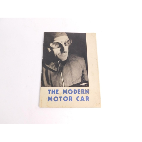 3026 - The Modern Motorcar, publication with pictures of Maurice Beck to the front and back cover, printed ...