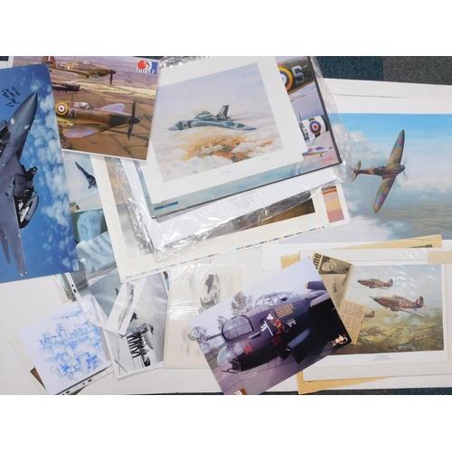 3029 - RAF photographs and prints, including Edward Ash, Lancaster Spurns Defeat, limited edition print, 9/...