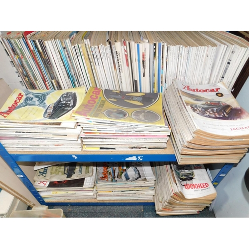 3041 - Car magazines, 1960s onwards including What Car, Auto Car, and Road Test, together with a ledger rec...
