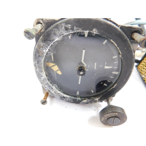3034 - Two Ferranti Limited Artificial Horizon MK4E military aircraft gauges, serial nos 353/59 and 125/59,...