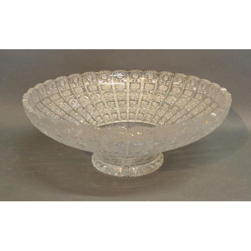 2 - A Large Cut Glass Bowl, 41cm Diameter...