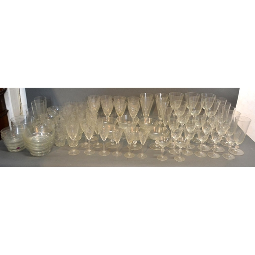 4 - A Cut Glass Drinking Set Together With Another Similar...