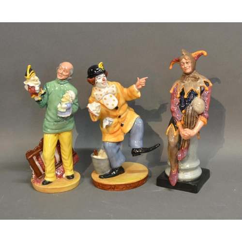 8 - A Royal Doulton Figure The Clown H.N. 2890, together with another similar Royal Doulton figure Punch...