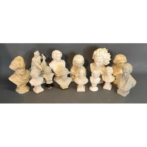 18 - A Bisque Bust In The Form Of Napoleon Together With Ten Other Similar Busts...